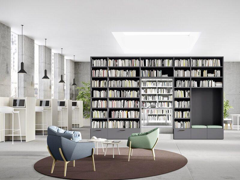 libreria ponte L6 - mod2 freestanding