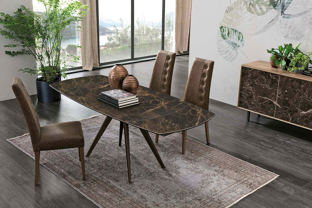 Tavolo da Pranzo in Gress 130-200 cm - Confalone