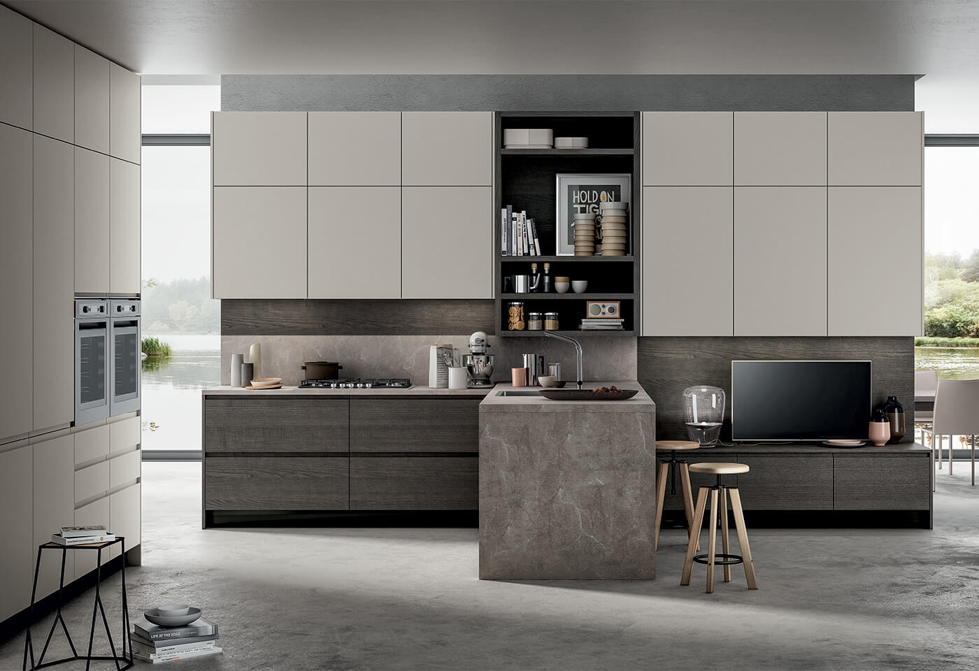 Cucina Design Moderno L 4 Confalone
